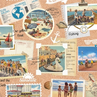 Servítky Vacation Scrapbook, 1 ks