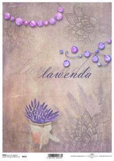 2a51eda2170a Ryžový papier Levanduľa